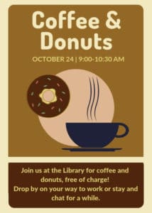 Coffee & Donuts at the Library @ Cheney Public Library