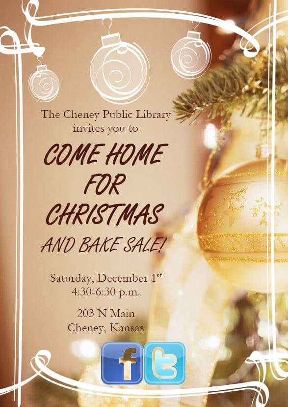 Come Home For Christmas.Come Home For Christmas Cheney Public Library