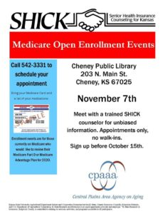 Medicare Open Enrollment Event @ Cheney Public Library